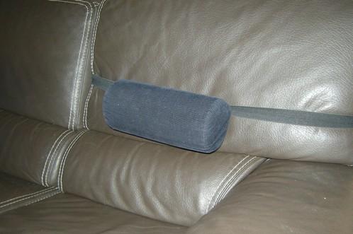 Coussin lombaire sur un canapé